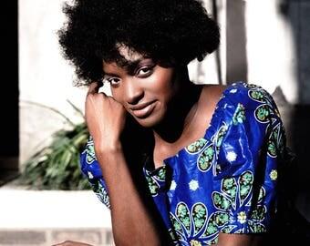 Ankara Clothing African Print Bardot Top Ankara Top African Bardot Top Festival Top Summer Tee Wax Print Blouse Festival Outfit African Top