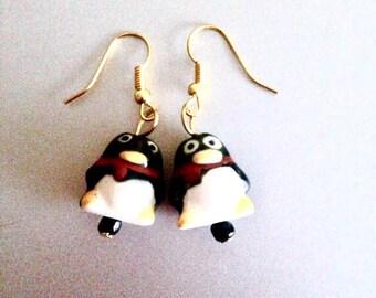 Cute Penguin Earrings, Penguin Earrings, Fun Earrings, Animal Earrings, Christmas Earrings, Stocking Filler, Birthday Gift, Co Worker Gift