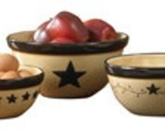 Star Vine Mixing Bowls