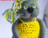 SALE SALE Wool toy,Needle felted cat,felted cat,Miniature cat,wool cat,felted kitten,felt kitten,Miniature kitten, Birthday gift, animal