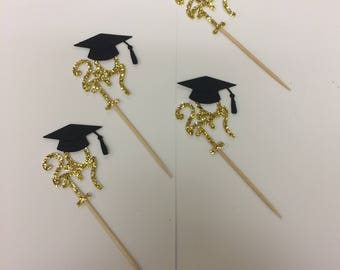 Graduation Cupcake toppers| 2017 Graduation toppers