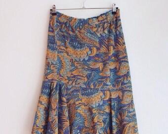 vintage lurex hippie boho party sparkle skirt M
