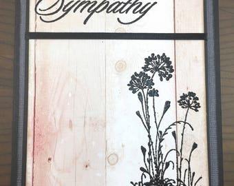 Sympathy Card - Handmade - Condolences - Bereavement Card