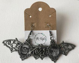 Frankenstein and Bride Earrings