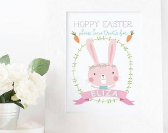 Easter Print || Rabbit || Personalised Card || Digital Print || Easter Card