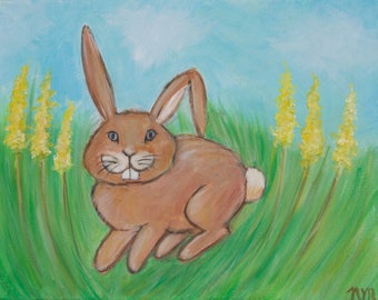 Painting for Children's Room - Bunny