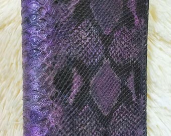 NEW! Gorgeous Violet Python Weekly 2018 Planner/Notebook, Full 2 Page per Week Spread, 3 Ring/2 Pocket Leather Interior, HandLaced