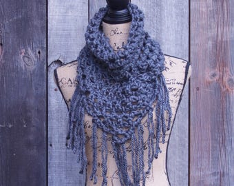 Gray Triangle Cowl