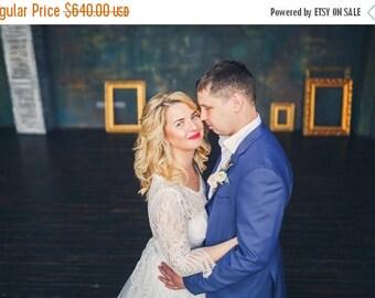 Real bride photos, wedding dress Vesta in ivory color