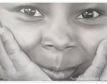 graphite pencil portrait look of the world
