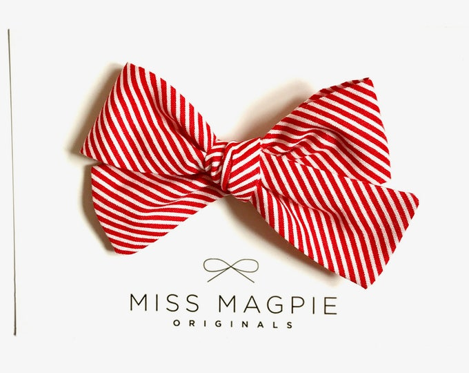 Mini stripe || Red + white