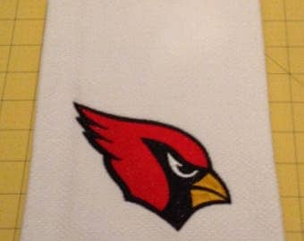 ARIZONA CARDINALS  FOOTBALL! Embroidered Williams Sonoma All Purpose Kitchen Hand Towels 20 x 30, Extra Large