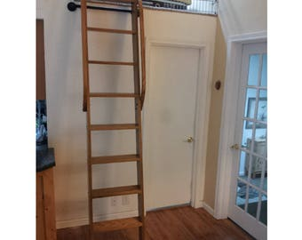 Loft Ladder, Wood Ladder, Custom Wood Ladder, Library Ladder, Rolling Ladder ,