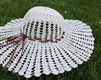 Crochet sun hat for women, must have, handmade