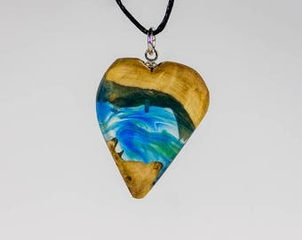 wood and resin jewelry, unique jewelry, statement necklace, wood jewelry, resin jewelry, exotic jewelry, nature jewelry, wood necklace
