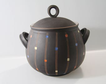 Stunning Punch/Bowle container, Steuler,  Decor: Confetti, West German pottery, WGP, 1950s
