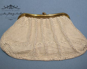 Whiting and Davis cream purse.