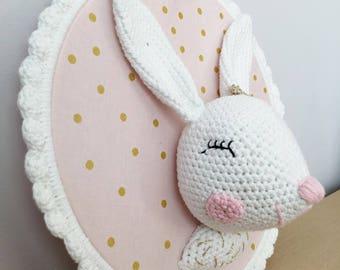 Children's room - trophy rabbit decoration