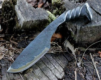 Twisted Railroad Spike Knife