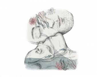 Skeleton Woman Illustration