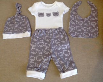 Baby bear outfit size newborn baby boy take home outfit