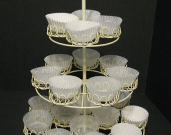 Vintage 3 Tier Wire Cupcake Stand