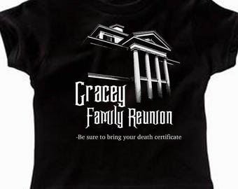 Toddler Disney Shirts Haunted Mansion Shirts Gracey Family Reunion Disney Halloween Shirts  Disneyland Shirts Disney World Shirts