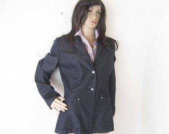 Vintage denim jacket denim Blazer jacket ambience S / m