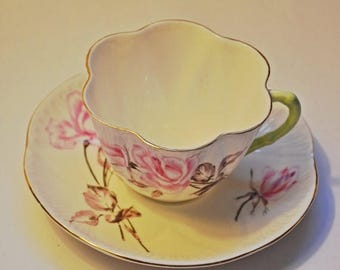 On Sale Shelley Teacup And Saucer, Second Ware, Rosalie Pattern, Dainty Shape