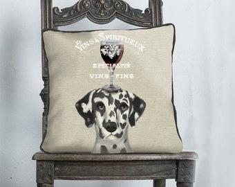 Dalmatian gifts Dalmatian Pillow Dalmatian Cushion wine gift dog Gift for dog lover dog throw pillow Cushion covers UK wine gift ideas