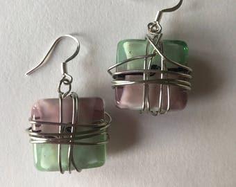 Custom wrapped earrings