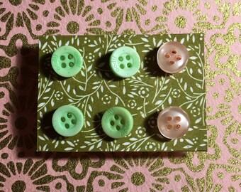 SALE!!!! Button earrings