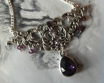 """Necklace """"Purple Lady"""" baroque Victorian"""