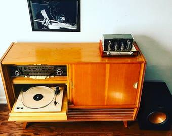 Telefunken mid century record console cabinet stereo