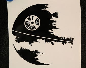 Star Wars Damaged Death Star Decal Any Size Any Colors