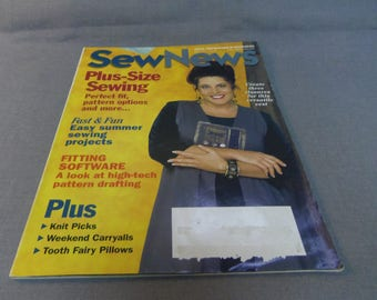 Sew News Magazine back issue, August 2000, Ideas, Inspirations and Techniques, Plus Size Sewing, Projects, I