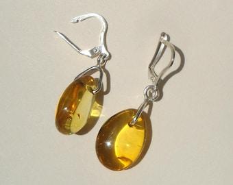 Amber silver earings, Amber earings, silver earrings, Dangle & Drop Earrings, vintage amber earrings, vintage earrings, Amber drop