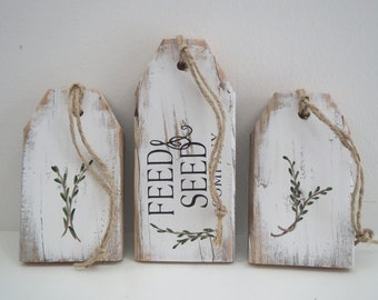 Wood Tags/Pallet Tags/Painted Wood Signs/Rustic Wood Signs