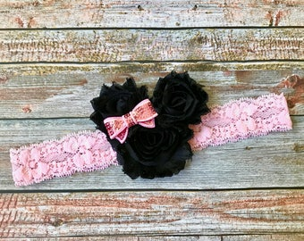 Pink Minnie Mouse Baby Headband/Minnie Mouse Headband/Minnie Mouse/Minnie Headband/Minnie Mouse Bow/Headband/Disney Headband/Baby Headband