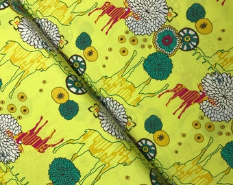 Paradise Dwellers in Neon from the Utopia Collection by Frances Newcombe for Art Gallery Fabrics, Choose the Cut