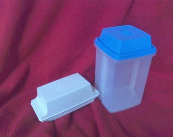 Vintage tupperware, butter dish, storage container, measuring cups , butter storage, pickle keeper. butter keeper