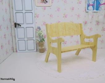 Panchina in bambù per Blythe doll