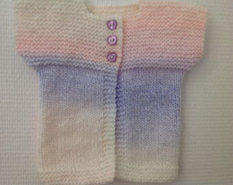 Baby size 3 to 6 months baby sleeveless Cardigan