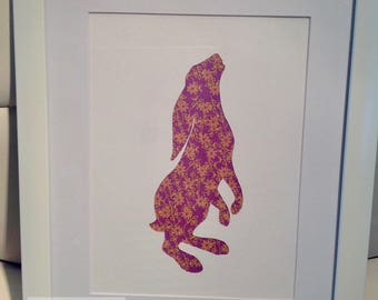 """10"""" x 8"""" - Rabbit Silhouette Picture"""