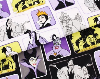 Disney Villains Evil Wicked Women Fabric Camelot Fabrics by the Half Yard