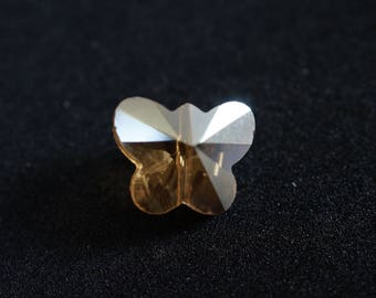 Beige Crystal AB Butterfly