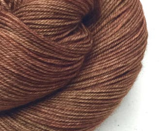Superwash Merino Yak Sock Yarn - Kettle Dyed - approx. 437 yards - 100 grams - LUCKY PENNY