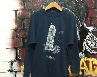 Pisa Tower Graphic Sweatshirt