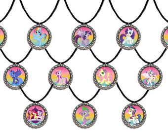 12x MLP My little Pony Party Favor Necklaces