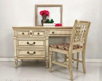 SOLD  Vintage style Desk/Vanity, antique desk, antique vanity, dixie desk